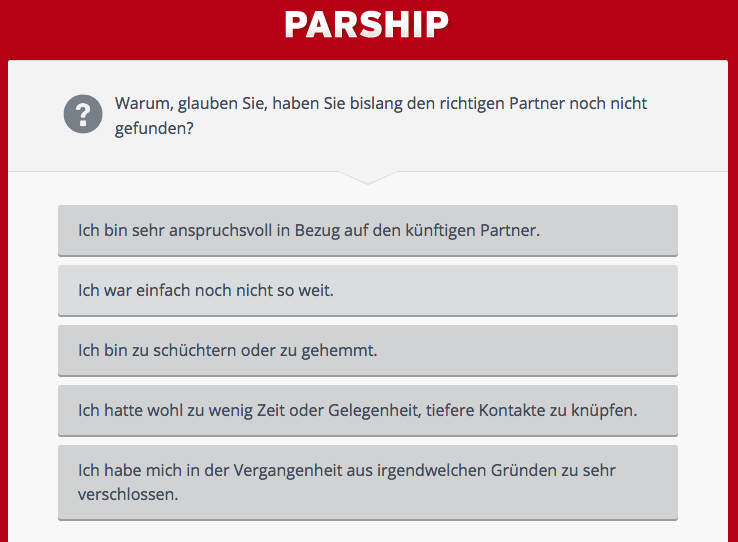 Partnersuche parship