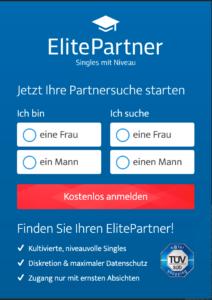 ElitePartner Anmeldung