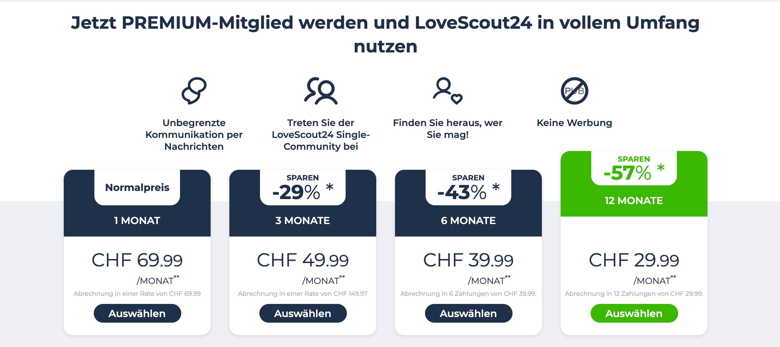 Singles Ch Kosten – Warum LoveScout24?
